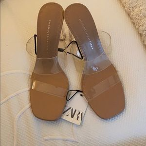 Zara clear heel sandals